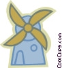 Vector Clip Art image  of a Dutch Windmills