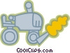 Vector Clipart graphic  of a Tractors