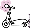 Vector Clipart graphic  of a Scooters
