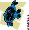 Vector Clipart picture  of a Various Fish