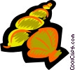 Vector Clipart graphic  of a Shells  Seashells