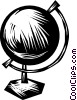 Globes Vector Clip Art graphic