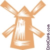 Dutch Windmills Vector Clipart graphic