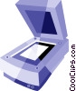 Vector Clip Art picture  of a Flatbed Scanners