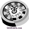 Vector Clip Art graphic  of a Roulette