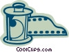Vector Clip Art graphic  of a Film