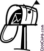 Vector Clip Art image  of a Mailboxes