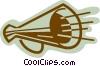 Vector Clip Art image  of a Megaphones