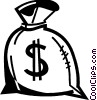 Vector Clipart illustration  of a Money Bags