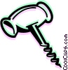 Vector Clipart image  of a Corkscrews