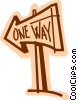Vector Clipart illustration  of a Street Signs Road Signs