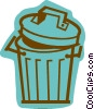 Vector Clipart image  of a Garbage Waste Trash