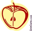 Vector Clip Art image  of an Apples