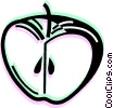 Vector Clip Art graphic  of an Apples