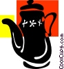 Teapots Vector Clipart illustration