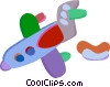 Commercial Jets Vector Clip Art graphic