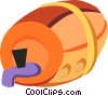 Vector Clip Art graphic  of a Wine Barrels