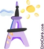 Vector Clip Art graphic  of a Eiffel Tower