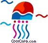 Vector Clipart image  of a Jellyfishes