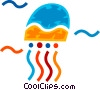 Vector Clipart graphic  of a Jellyfishes