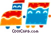 Toy Trains Vector Clipart picture