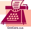 Typewriters Vector Clipart image