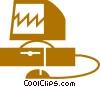 Computer Desktop Systems Vector Clip Art image