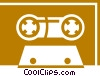 Vector Clip Art picture  of a Cassette Tapes