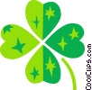 Vector Clip Art picture  of a Four leaf clover