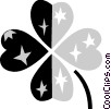 Vector Clip Art picture  of a Shamrocks