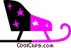 Vector Clip Art image  of a Sleighs
