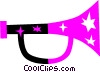 Vector Clip Art image  of a Horns