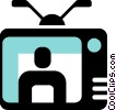 Vector Clip Art image  of a Televisions