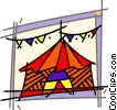 Vector Clip Art image  of a Circus tent