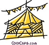 Vector Clip Art graphic  of a Tents and Big Top