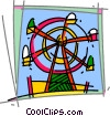 Vector Clip Art image  of a Ferris Wheels