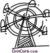 Ferris Wheels Vector Clip Art picture