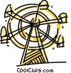 Vector Clip Art graphic  of a Ferris Wheels
