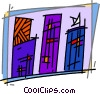 Apartments Condominiums Vector Clip Art graphic