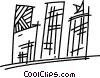 Vector Clipart image  of an Apartments Condominiums