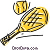 Balls and Rackets Racquets Vector Clipart image