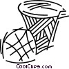 Basketballs and Nets Vector Clipart graphic