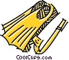 Fins Vector Clip Art graphic