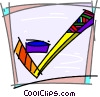 Hockey Stick Vector Clip Art graphic
