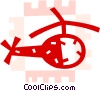 Helicopters Vector Clip Art graphic