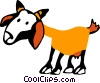 Vector Clip Art graphic  of a Goats