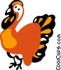 Turkeys Vector Clipart illustration