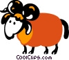 Rams Vector Clipart graphic