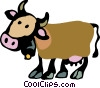 Vector Clip Art image  of a Cows