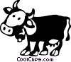 Cows Vector Clipart picture